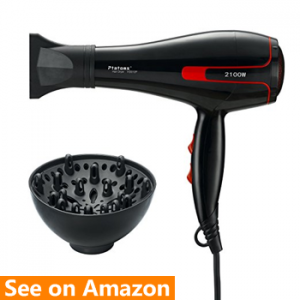 Ptatoms Professional Ionic 2100 W dryer for thick hairs