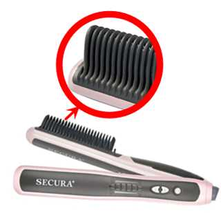 Secura Hair Straightener Comb